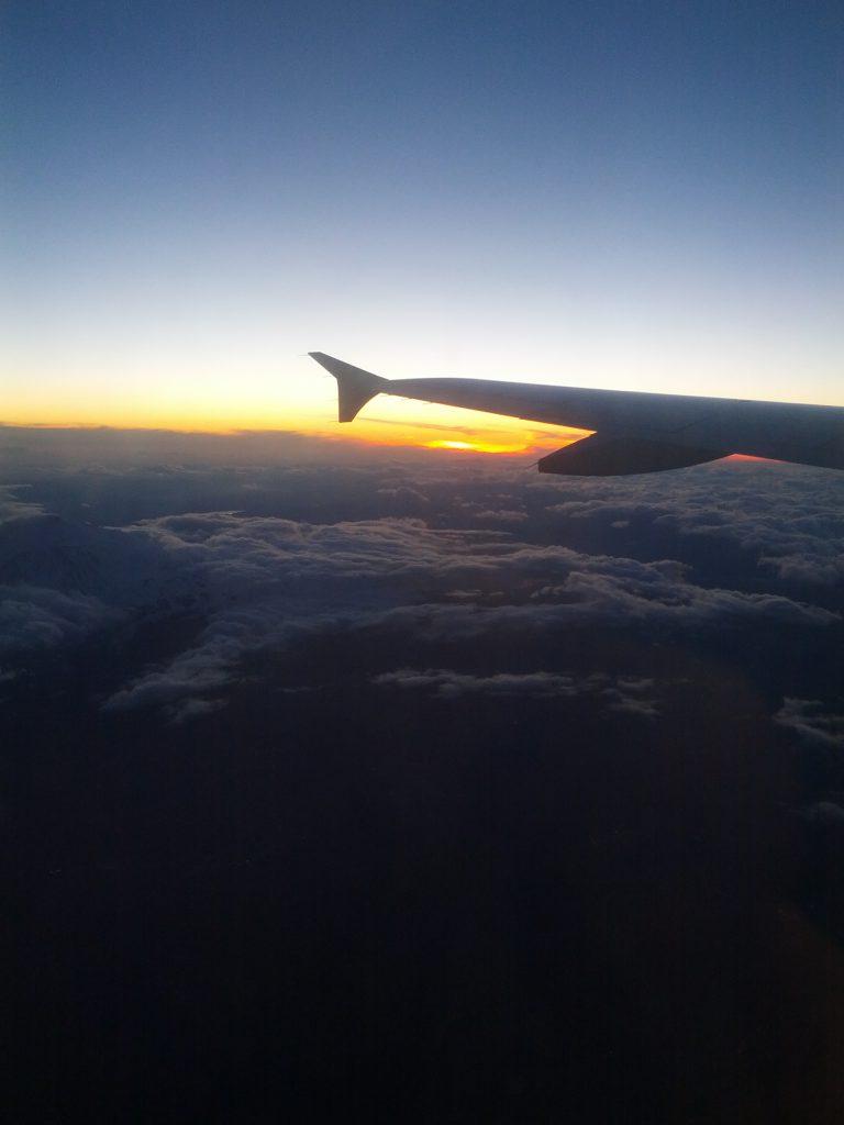 tramonto dall'alto