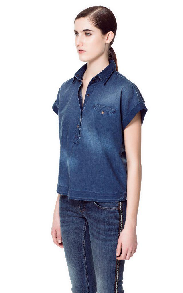 camicia jeans 2 zara 29,95 euro