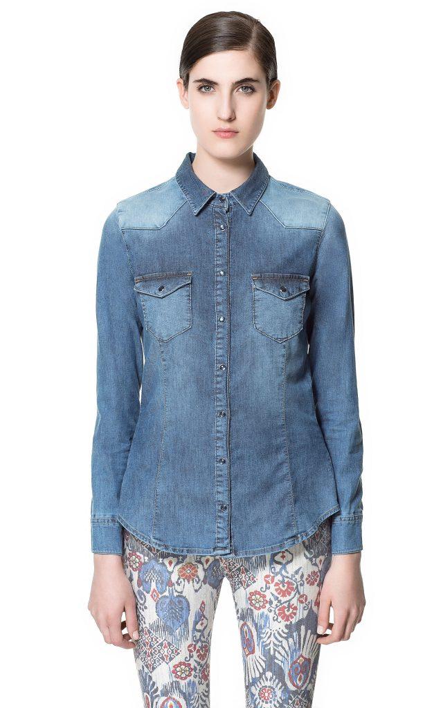 camicia jeans zara 39,95 euro